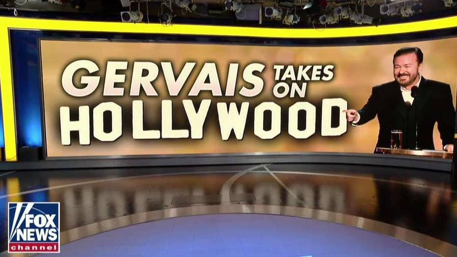 Ricky Gervais' takedown of Hollywood elites cracks up 'Friends' hosts