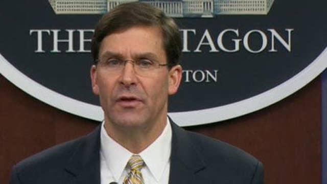 Defense Sec Esper: U.S. not seeking war with Iran, but prepared to finish one