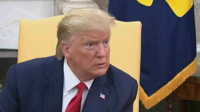 President Trump responds to question about impeachment during bilateral meeting with Greek Prime Minister