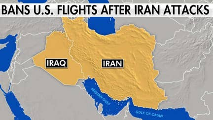 FAA bans all US flights over Iran, Iraq, Persian Gulf and Gulf of Oman