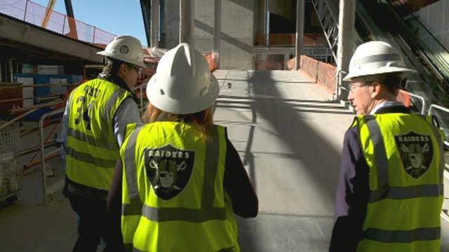 Fox Business brings first TV crew inside new Raiders stadium in Las Vegas during CES 2020