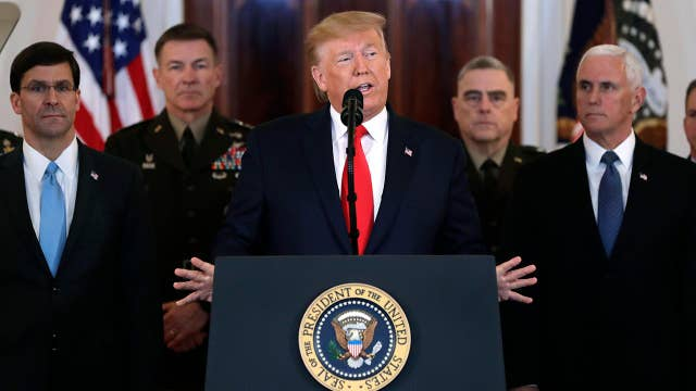 President Trump addresses nation following Iranian missile attack, defends decision to take out Qassem Soleimani