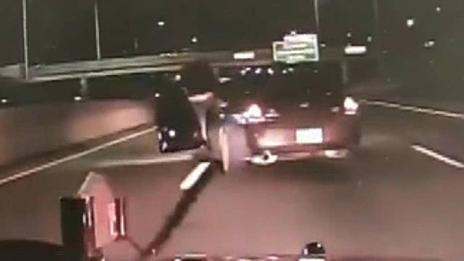 Wild end to police pursuit on Michigan highway