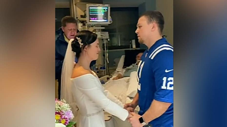 Indiana couple has wedding ceremony in hospital IC so father can be with his daughter on her big day