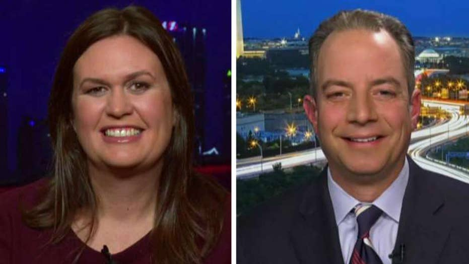Sarah Sanders and Reince Priebus on Nancy Pelosi's impeachment ploy, liberal media bias