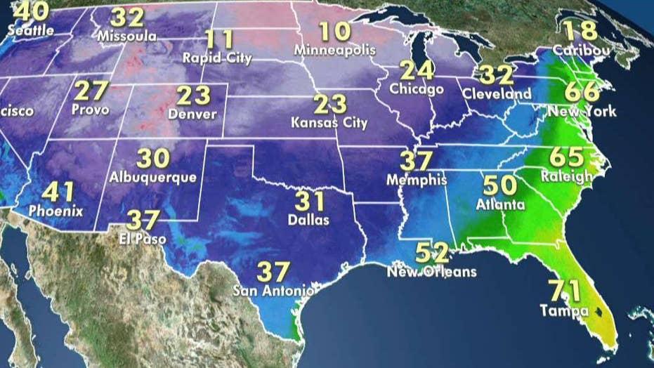 National forecast for Sunday, January 12