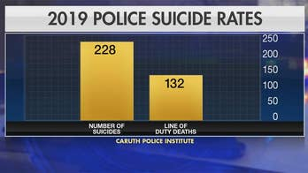 Police officer suicide rate more than doubles line of duty deaths