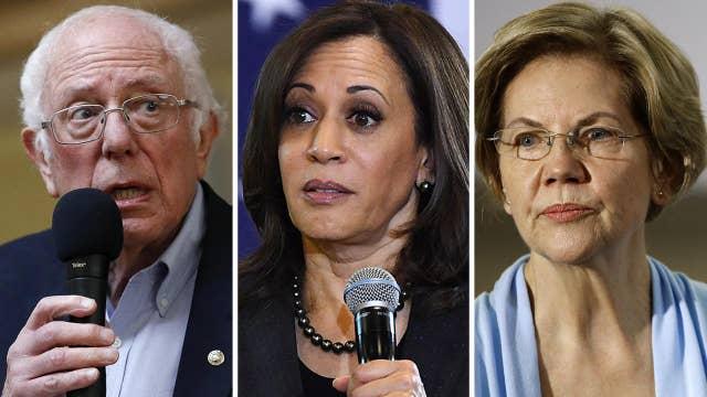 Kamala Harris appears to side with Warren in Sanders gender debate