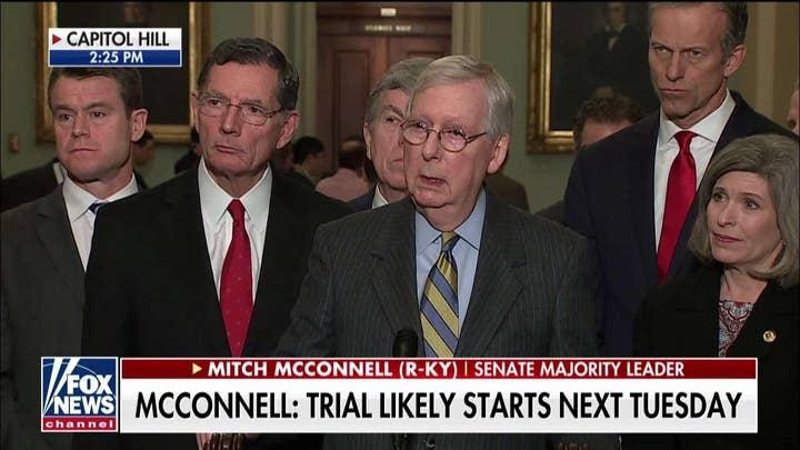 Mitch McConnell: No GOP sentiment to dismiss impeachment