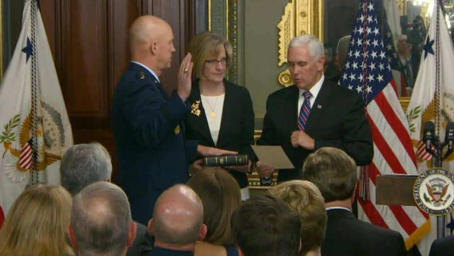 Religious freedom group plans to file complaint following Space Force swearing-in ceremony