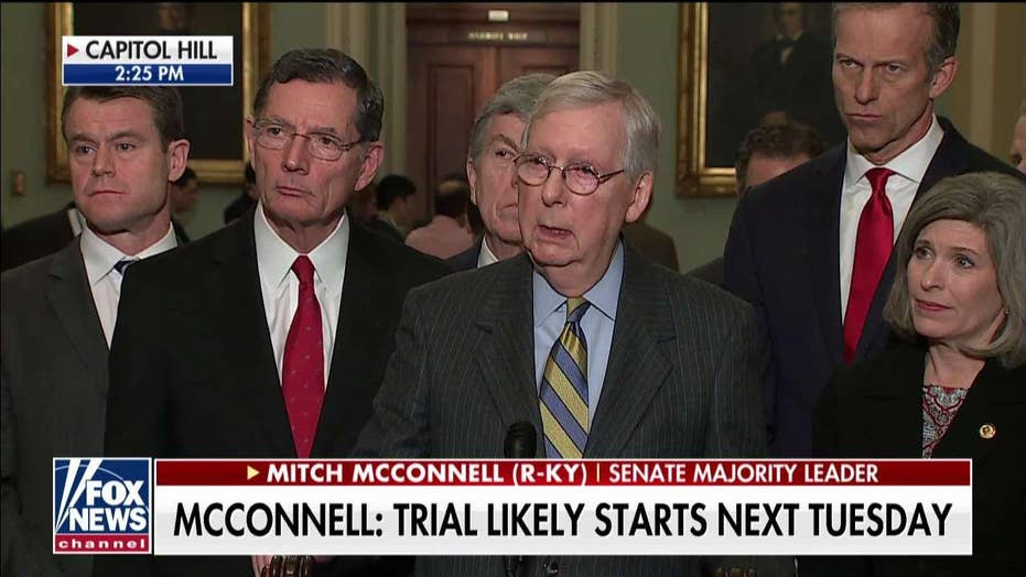 Mitch McConnell: No GOP sentiment to dismiss impeachment