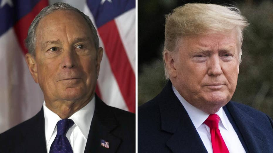Bloomberg campaign says their ultimate goal is to stop President Trump