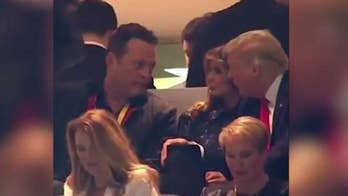 Outrage on social media after Vince Vaughn meets President Trump at college football championship game