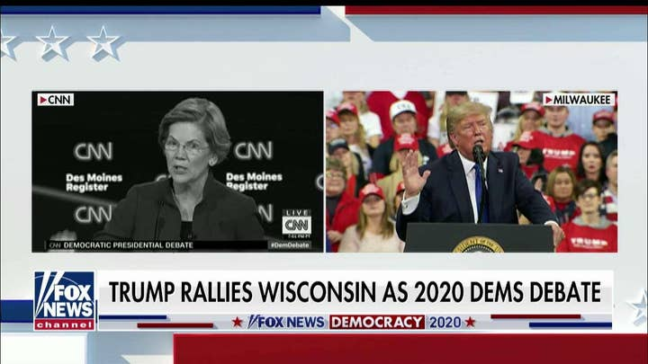 Watch: Trump hits back at Democrats in real time at Wisconsin rally
