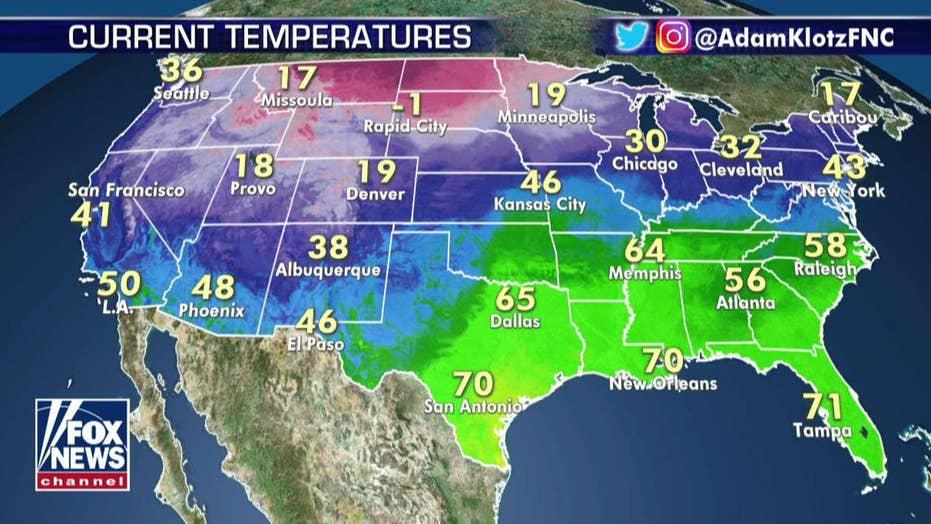 National forecast for Wednesday, January 15