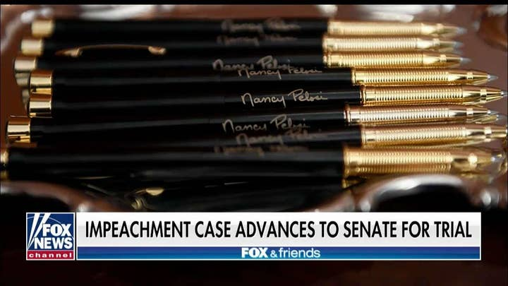 'Friends' on Pelosi's souvenir impeachment pens: Did she just sign over the House in 2020?
