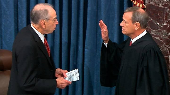 Chief Justice John Roberts sworn in to preside over impeachment trial