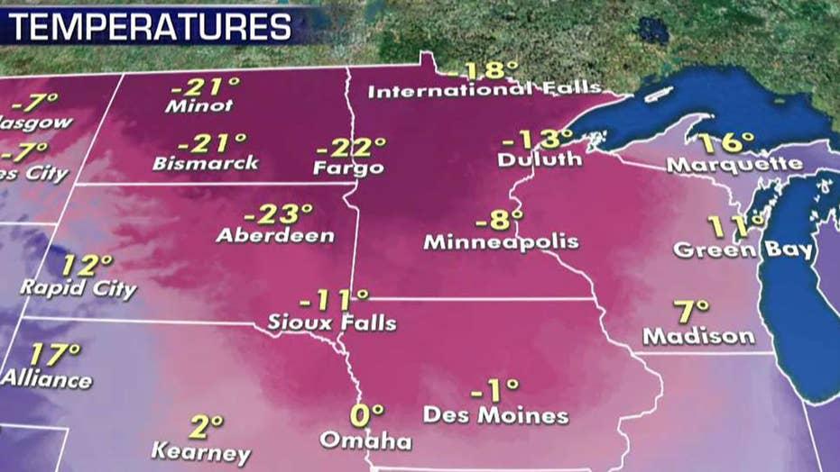 National forecast for Thursday, January 16