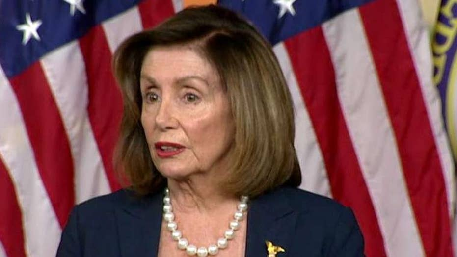 Nancy Pelosi mocks Mitch McConnell at news conference on Capitol Hill