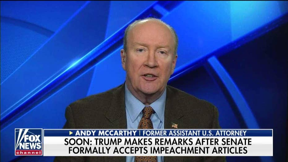 Andy McCarthy on how Trump's legal team should defend impeachment case