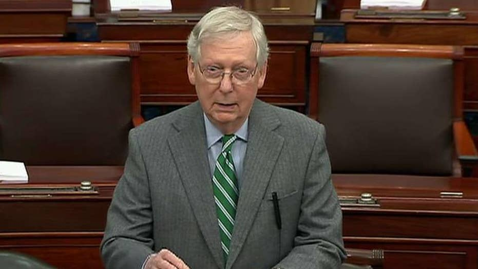 Mitch McConnell criticizes Nancy Pelosi's celebratory tone during signing of impeachment articles