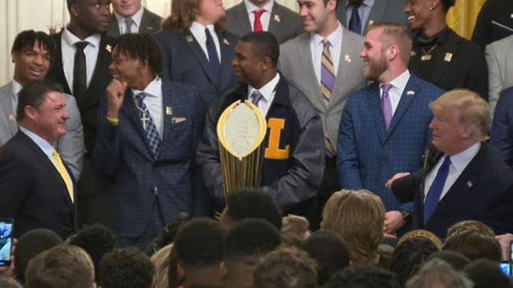Trump to LSU players: 'You're going to make so much money'