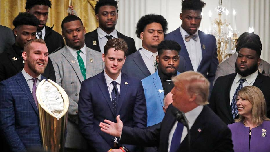 President Trump welcomes the 2019 college football champions to the White House