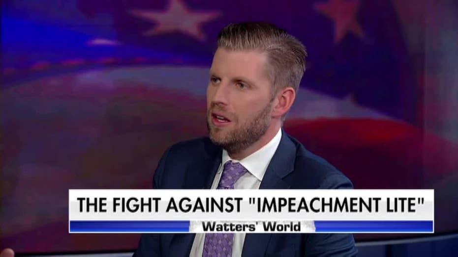 Eric Trump: Pelosi, impeachment are 'walking my father into 2020' victory