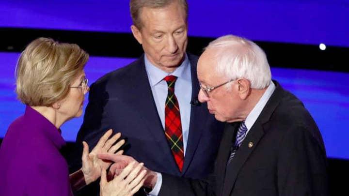Sanders-Warren fight highlights Iowa Democrat debate