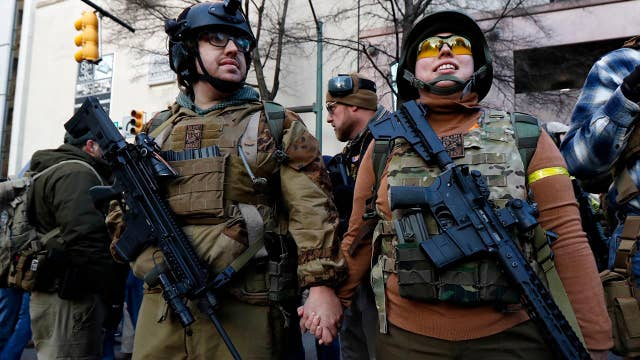 Authorities in Virginia tighten security ahead of rally to defend the Second Amendment