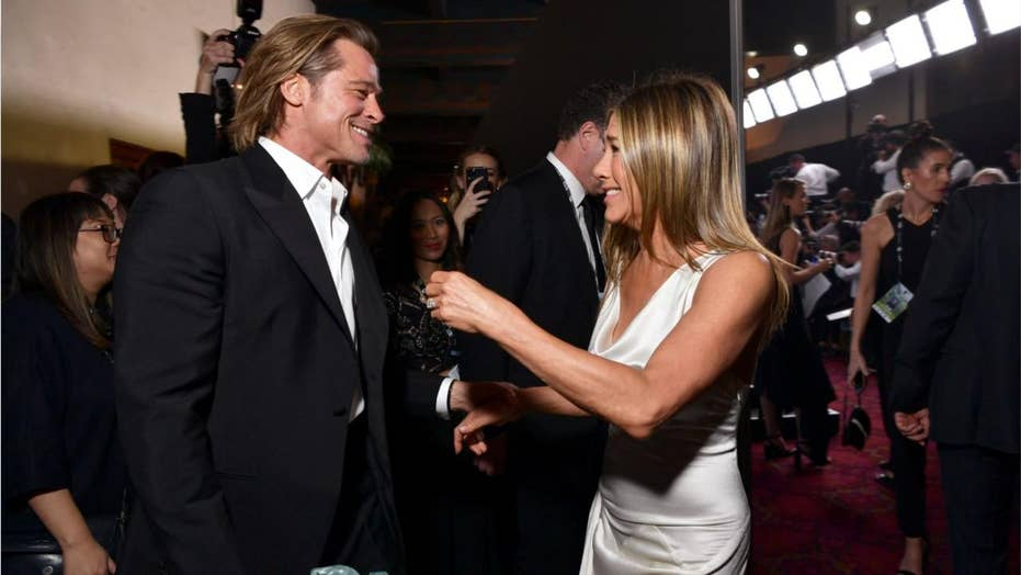 Exes Brad Pitt and Jennifer Aniston reunite backstage after SAG Award wins