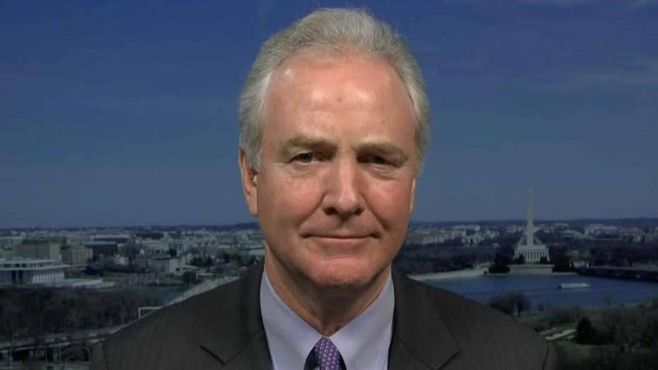 "Sen. Chris Van Hollen says McConnell is trying to ""rush through"" Senate impeachment trial"