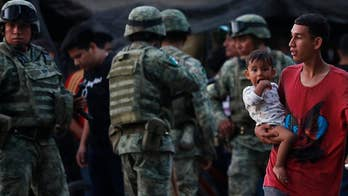 Migrants scuffle with Mexican troops near Guatemala border