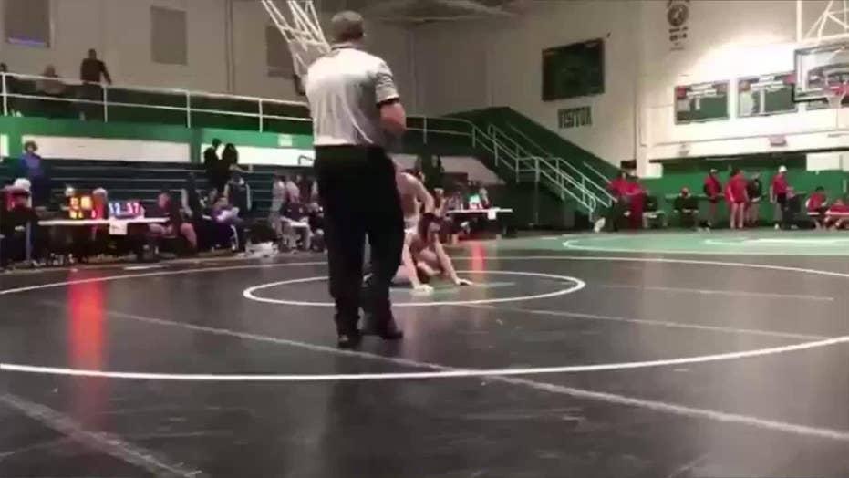 Report: North Carolina father arrested after allegedly tackling son's HS wrestling opponent