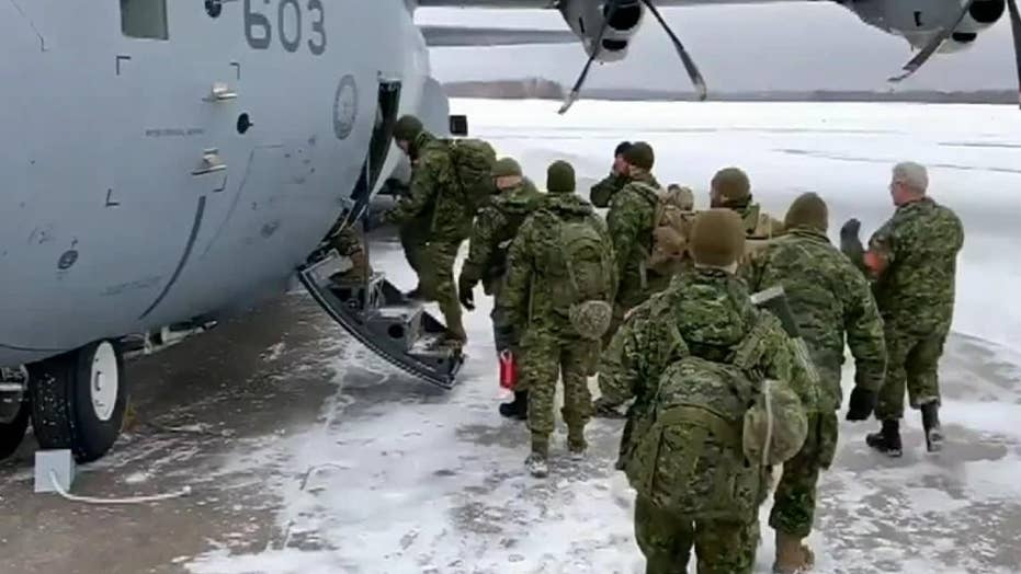 Canadian Armed Forces help dig out snowbound Newfoundland residents