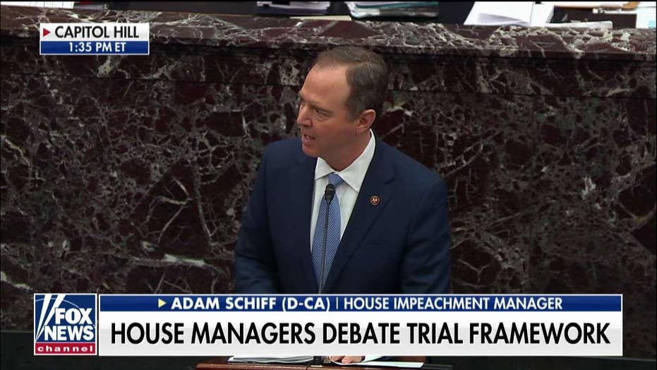 Adam Schiff: If Democrats can't call witnesses, then impeachment trial isn't fair