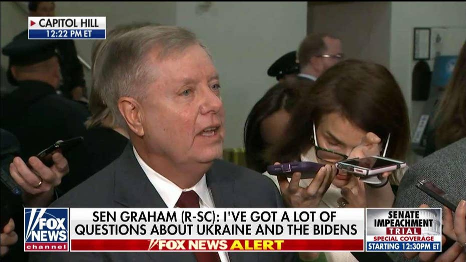 Sen. Graham: Trump told me yesterday the Bidens and Ukraine need to be investigated