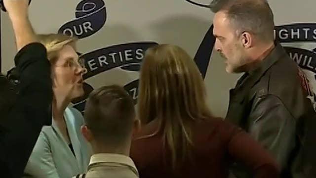 Dad confronting Elizabeth Warren over student loan debt goes viral