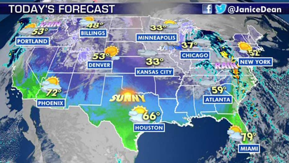National forecast for Friday, January 24