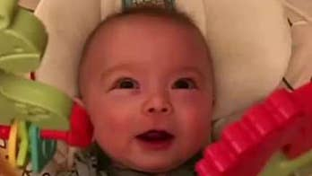Dad creates cover of 'Thunderstruck' with sounds his baby makes