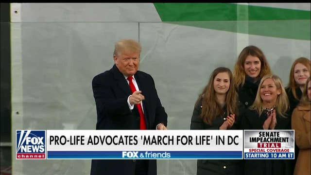 Rachel Campos-Duffy interviews President Trump at the March for Life