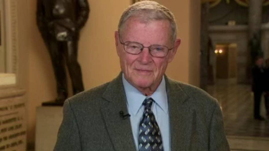 Sen. Jim Inhofe reacts to day 5 of Trump Senate impeachment trial