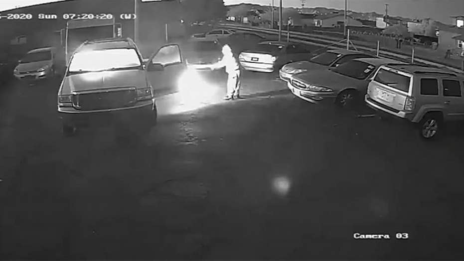 Raw video: Man sets multiple cars on fire