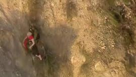 California hiker clings to cliffside by tree roots in video of dramatic rescue