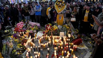 Mourners pay tribute to Kobe Bryant
