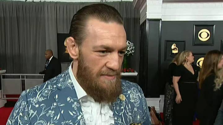 Conor McGregor reacts to Kobe Bryant's death at the Grammys