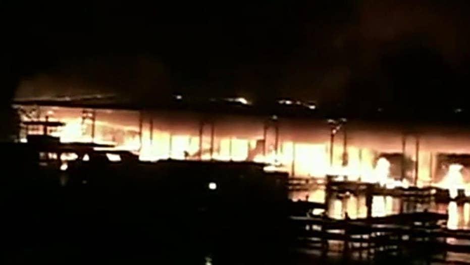 Alabama dock fire: 7 injured, multiple victims feared dead