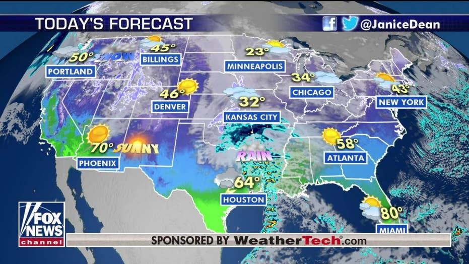 National forecast for Tuesday, January 28