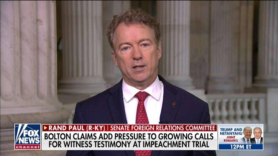 Rand Paul blasts Chuck Schumer for 'defaming' Trump's children