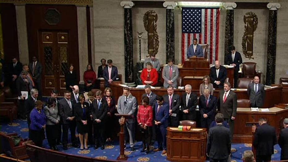 The House of Representatives hold a moment of silence in honor of Kobe Bryant